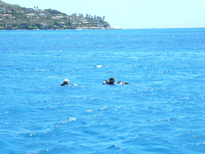 Towing a diver